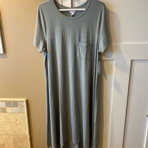 LuLaRoe Large Carly Dress Solid Grey